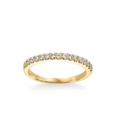 ArtCarved Skyler Contemporary Diamond Wedding Band in 18k Yellow Gold