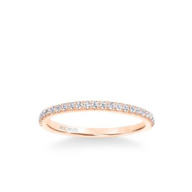 ArtCarved Sybil Classic Diamond Wedding Band in 14k Rose Gold