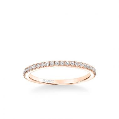 ArtCarved Kit Classic Diamond Wedding Band in 18k Rose Gold