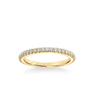 ArtCarved Maryann Classic Diamond Wedding Band in 18k Yellow Gold