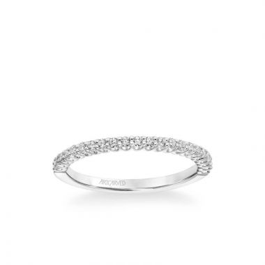 ArtCarved Jocelyn Classic Diamond Wedding Band in 18k White Gold