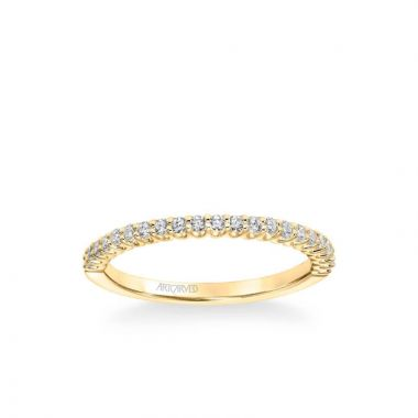 ArtCarved Melissa Classic Diamond Wedding Band in 14k Yellow Gold