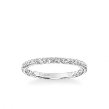 ArtCarved Harley Lyric Collection Classic Diamond Band in 14k White Gold
