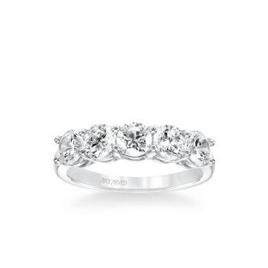 ArtCarved Five Stone Anniversary Band 2 ctw in 14k White Gold