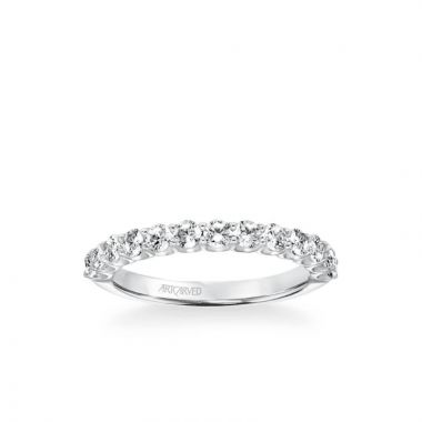 ArtCarved Nine Stone Anniversary Band  3/4 ctw in 18k White Gold
