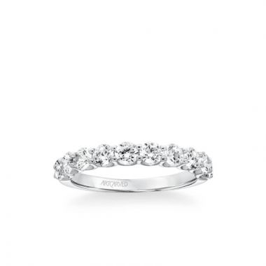 ArtCarved Nine Stone Anniversary Band 1 1/4 ctw in 18k White Gold