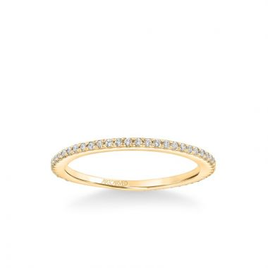 ArtCarved Stackable Petite Band in 18k Yellow Gold